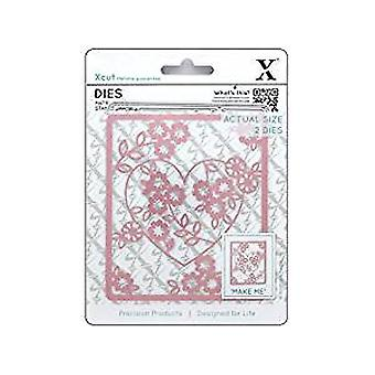 Xcut Dies (2pcs) - Floral Heart (XCU 503093)