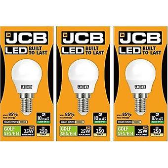 3 أدى X JCB 3 وات = 25w SES/E14 ملعب الكرة المصابيح ملولبة 250lm الحارة الأبيض ك 3000 غير عاكس [الطاقة الفئة A +]