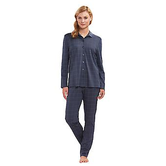 Feraud 3883160-16525 Women's Dark Grey Plaid Cotton Pyjama Set
