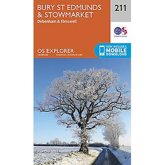 Bury St.Edmunds and Stowmarket (September 2015 ed) by Ordnance Survey