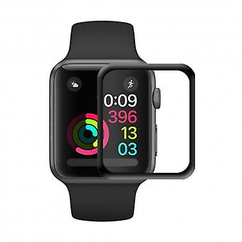 3d Curved Glass Screen protector Apple Watch 42mm-Black