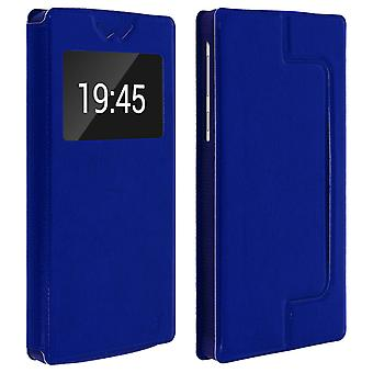 Smartphone Case 6,2'' Card Holder Window Video stand,slide Blue