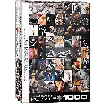 Fifty Shades of Her 1000 Piece Jigsaw Puzzle 680mm x 490mm (pz)