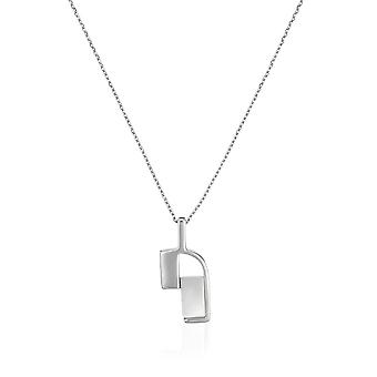 PENDANT WITH CHAIN 925 SILVER AND MOTHER OF PEARL