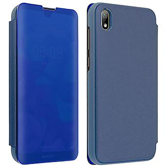 Flip Case, Mirror Case for Huawei Y5 2019 / Honor 8S, Standing Cover - Blue
