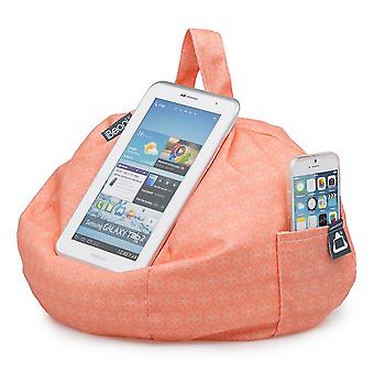 Ipad, tablet & ereader bean bag stand by ibeani - coral geo