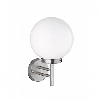1 Light Outdoor Wall Light Brushed Stainless Steel Ip44, E27