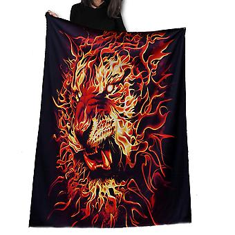 Wild star - fire of the tiger - fleece blanket / throw / tapestry