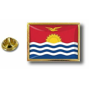 Pins Pin Badge Pin's Metal  Avec Pince Papillon Drapeau Kiribati