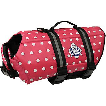 Paws Aboard Doggy Life Jacket Extra Small-Pink Polka Dot XS1200-P1200