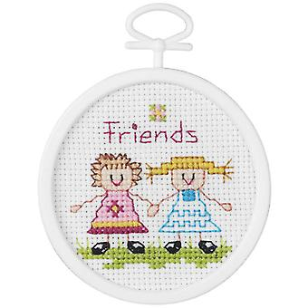 Friends Mini Counted Cross Stitch Kit 2 1 2