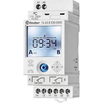 Operating voltage: 230 Vdc, 230 Vac Finder 12.62.8.230.0000 2 change-overs