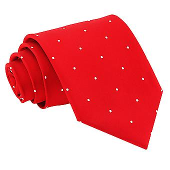 Men's Pin Dot Red Tie