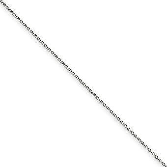 14k White Gold Lobster Claw sluiting 1.2mm solide Sparkle-Cut Spiga Chain Bracelet - lengte: 6 tot en met 10