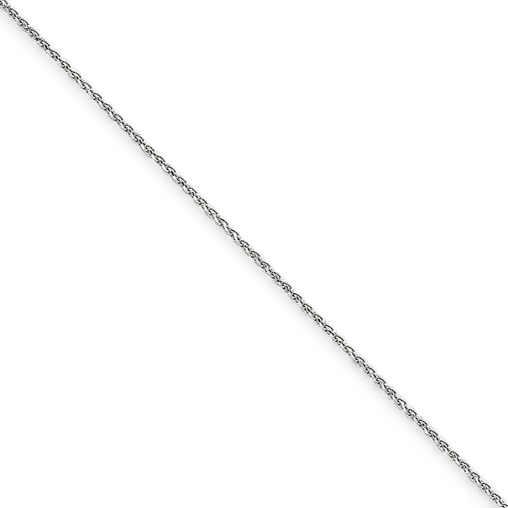 14k blanc or Sparkle-Cut Lobster Claw Closure 1.2mm Solid D-Cut Spiga Link Bracelet - Lobster Claw - Length  6 to 10