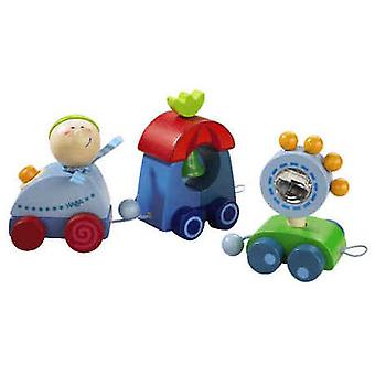 HABA-Terry Train Push Along Wooden Toy
