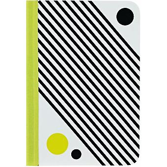 Ozaki pattern OC107CC folio cover bag for iPad mini yellow white