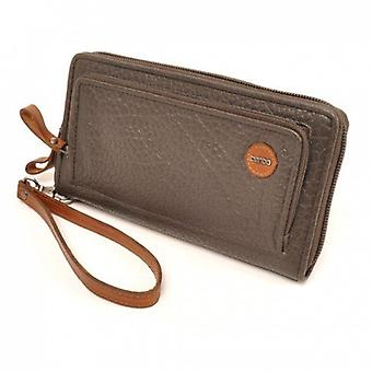 Berba Leather Womens wallet Chamonix 121-484-37 grey-brown