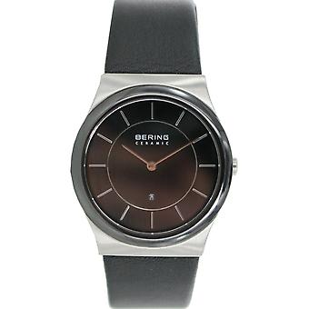 Bering Unisex Watch wristwatch slim ceramic - 32235-442 leather