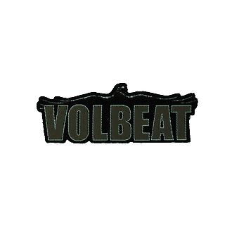 Volbeat Cut Out Raven Logo Woven Patch