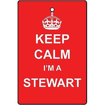 Keep Calm I'm A Stewart Car Air Freshener