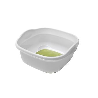9L Kitchen Sink Soft Touch Base Plastic Washing Up White Bowl