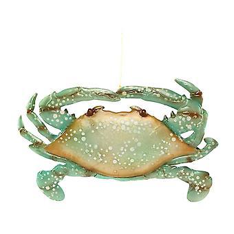 Seafoam grøn Krabbe Capiz Shell juleferien Ornament 7 Inches