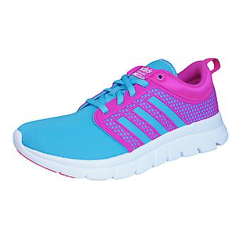 adidas Neo Cloudfoam Groove Womens Running Trainers / Shoes - Blue