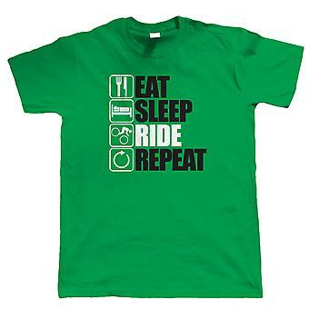 Eat Sleep Ride Wiederholung Mountain Bike T Shirt