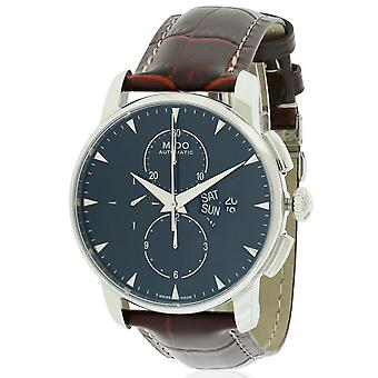 Mido Baroncelli Leather Chronograph Automatic Mens Watch M8607.4.18.82
