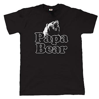 Vectorbomb, Papa Bear Mens Funny T Shirt (S to 5XL)