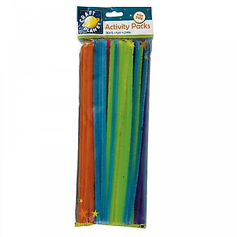 Craft Planet Neon Coloured Chenille Stems (60pk)