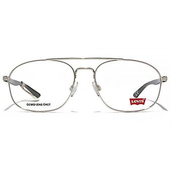 Levis Square Aviator Style Glasses In Silver