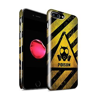 STUFF4 Glanz zurück Snap-On Handy Hardcase für Apple iPhone 7 Plus / Poison Design / Gefahr warnen Schilder Sammlung