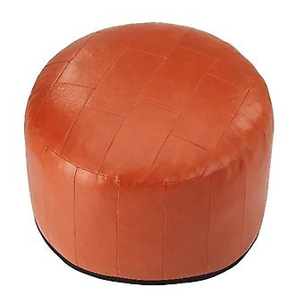 34 x 50 x 50 cushion seat stool stool Ottoman faux leather patchwork terra