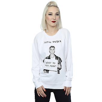 Justin Bieber Women's What Do You Mean Sweatshirt