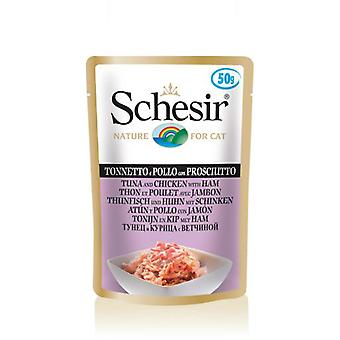 Schesir Tuna And Chicken With Ham (Katten , Voeding , Natvoer )