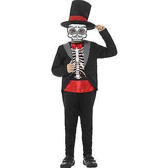 Børns kostumer dag af de døde mexicanske kostume