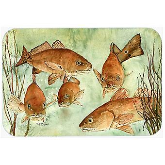 Trésors de Carolines 8983CMT poisson rouge nage cuisine ou bain Mat 20 x 30