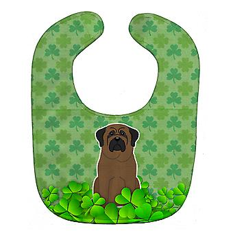 Carolines Treasures  BB6225BIB Bullmastiff Shamrocks Baby Bib