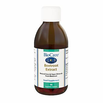 Biocare Beetroot Extract (natural source of iron & trace minerals), 90 vegi caps
