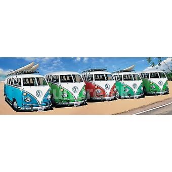 Volkswagen Camper Campers Beach Poster Poster Print