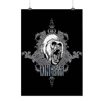 Matte or Glossy Poster with King Hood Monkey Animal | Wellcoda | *d198