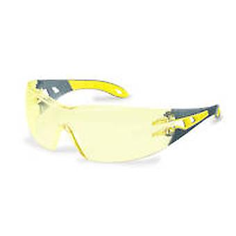Uvex 9192-385 Pheos Amber Supravision HC-AF Safety Spectacles