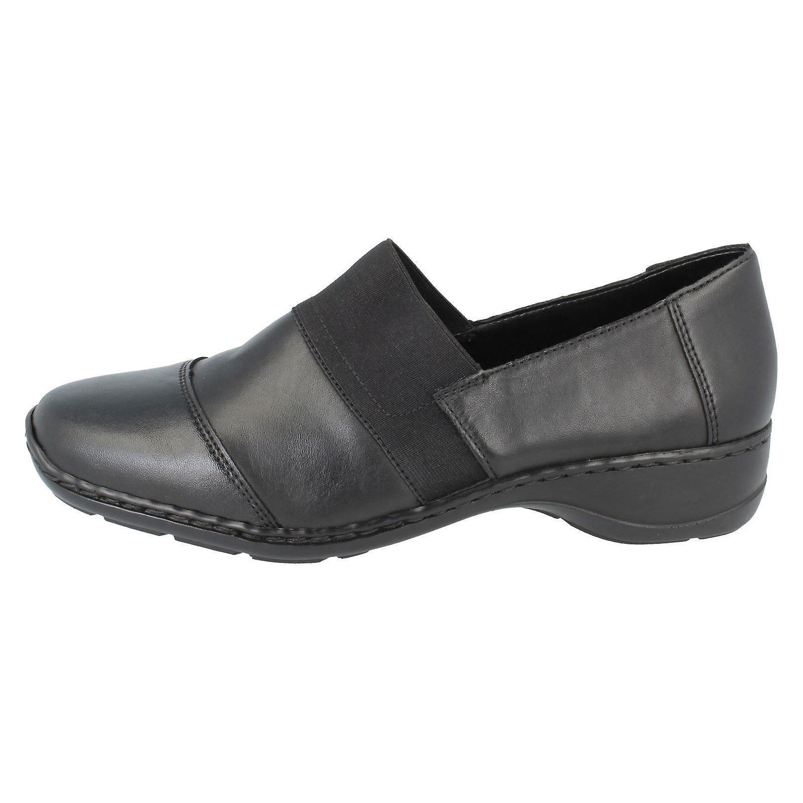 b26f7f79697 ... Ladies Rieker Rieker Rieker Flat Shoes 58355-00 - Black - UK Size 6 -