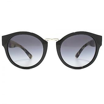 Burberry Metal Bridge Round Sunglasses In Black Grey Gradient