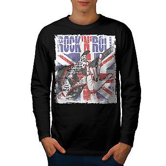 T-shirt van de koker van de BlackLong van het metalen mannen van het UK van Roll Rock | Wellcoda