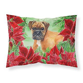 German Boxer Poinsettas Fabric Standard Pillowcase