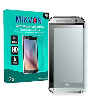 HTC One M8x 2014 LTE-A Screen Protector - Mikvon Clear (Retail Package with accessories)