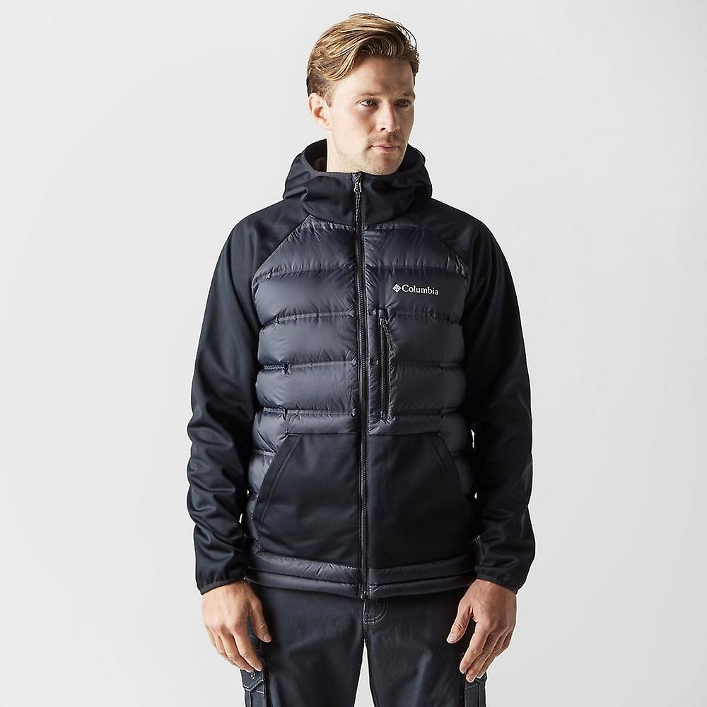 New Columbia hommes Ramble Down Hybrid Hooded Jacket noir